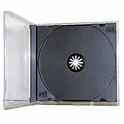 10 New Single Standard Black CD DVD Jewel Case Assembled 10.4mm [FREE SHIPPING]