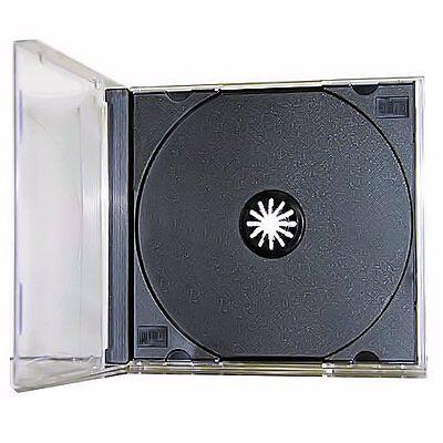 25 New Single Standard Black Cd Dvd Jewel Case Assembled 10.4mm Free Shipping