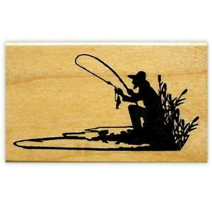 FISHERMAN-SILHOUETTE-Mounted-fishing-rubber-stamp-14