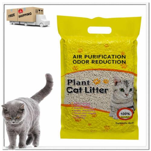 Cat Litter Natural Plant Original Fast-Clumping Multi-Cat Litter Flushable 6lb