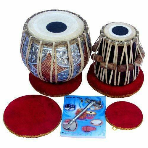 SAI Musicals Tabla Drum Set, Concert Quality, 2.5Kg Copper Bayan - Double Color.