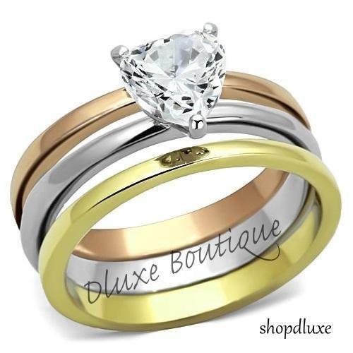 wedding rings sets heart shaped ebay