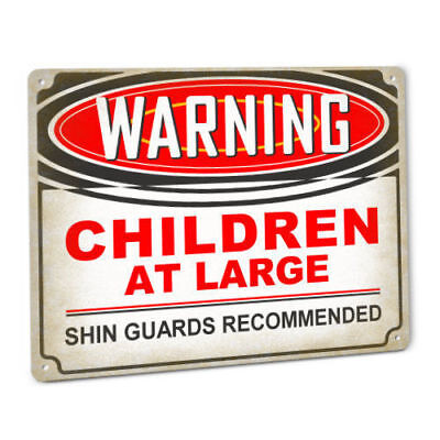 Warning Children At Large Sign Nursery Day Care Home Family Party Event Decor