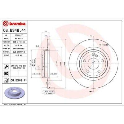 2 Bremsscheibe BREMBO 08.B348.41 COATED DISC LINE passend für MERCEDES-BENZ