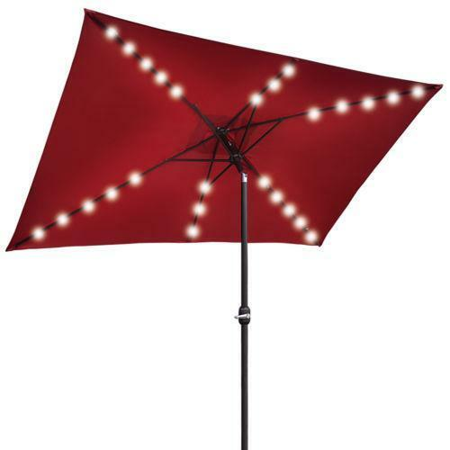 Led Umbrella Amazon: Patio Umbrella Burgundy