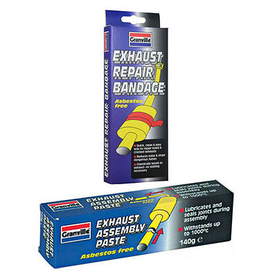 Granville Exhaust Pipe Repair Bandage + Assembly Jointing Sealant Paste 140g Set
