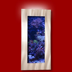 New aussie aquarium vertical brushed aluminum wall mounted for Vertical fish tank