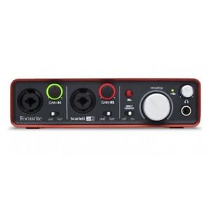Focusrite Scarlett 2i2 USB 2.0 Audio Interface With USB Cable