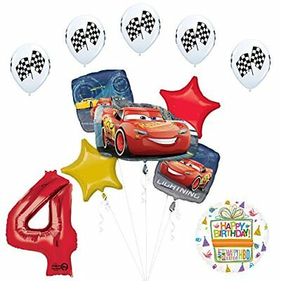 Disney Cars 3 Lighting McQueen 4th Birthday Party Supplies  - Mcqueen Birthday Supplies