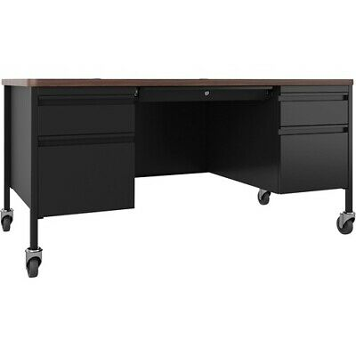 Lorell Fortress Series Walnut Top Teachers Desk - 60 X 30 X 29.5 - Box