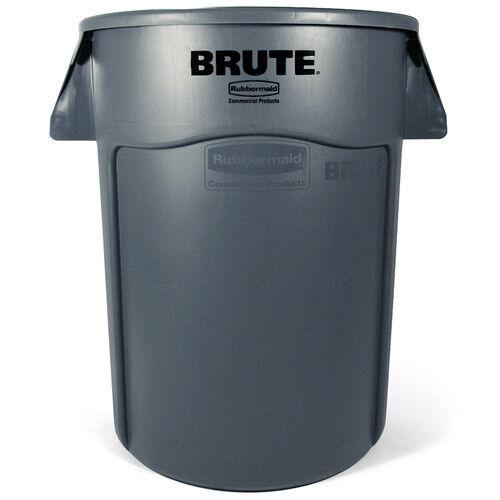 Rubbermaid FG263200GRAY Round Brute Container, 32 Gallon Cap., Gray