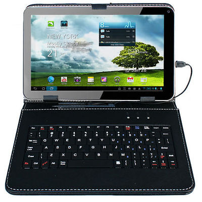 "9"" Android 4.4 Tablet PC Quad Pith 8GB Wi-Fi Dual Camera with Keyboard Bundle"