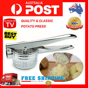 Large Potato Ricer Masher & Fruit Vegetable Press, Stailess Steel
