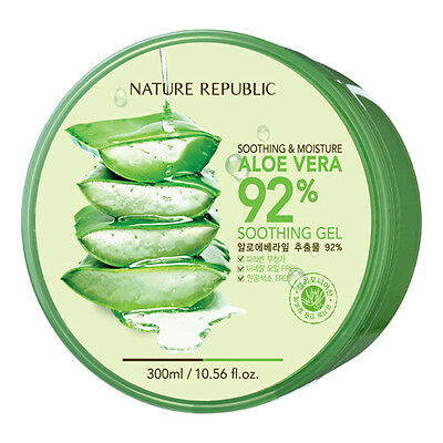 NATURE REPUBLIC Soothing & Moisturizing 92% Natural ALOE VERA Gel 300ml