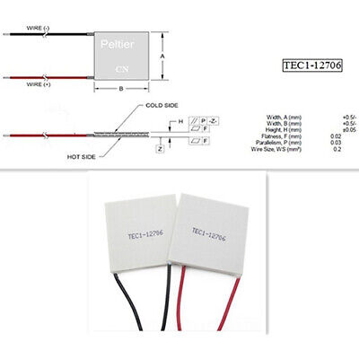 Tec1-19906 6a 24v 120w 40x40x4mm Thermoelectric Cooler Peltier Plate Module