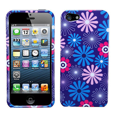 Flower Fireworks Apple iPhone 5 5S SE Faceplate Protector Hard Case Snap Cover