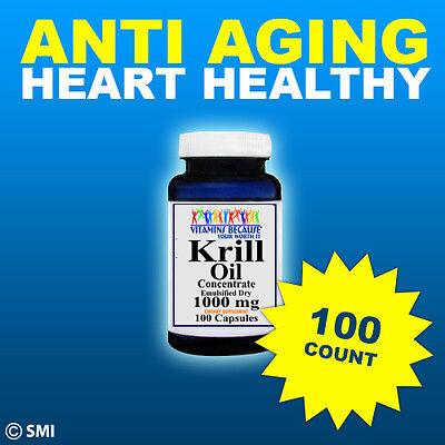 Krill Oil  100 Capsules High 1000 Mg Omega 3 Fatty Acids   Epa  Dha  Astaxanthin