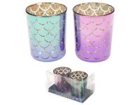 Mermaid tall design candle holders set of 2