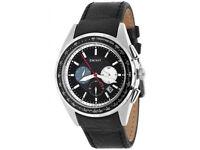 DKNY Men's DKNY1488 Men's chronograph - Black leather straps - Mens watch
