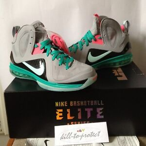 NIKE-LEBRON-9-SOUTH-BEACH-TEAL-Sz-US-UK-9-10-10-5-11-12-13-Pre-Heat-516958-001