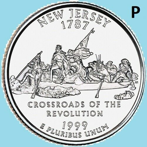 1999 P New Jersey Quarter NJ 50 Statehood State  ~ UNC Uncirculated 2nd