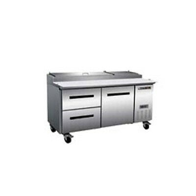 New Maxx Cold Pizza Prep Cooler 70 Doordrawers Mxcpp70dl Free Shipping