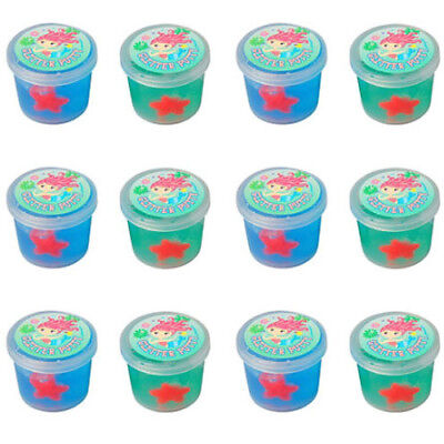 MERMAID GLITTER OOZE PUTTY (12) ~ Birthday Party Supplies Favors Toys Summer Sea