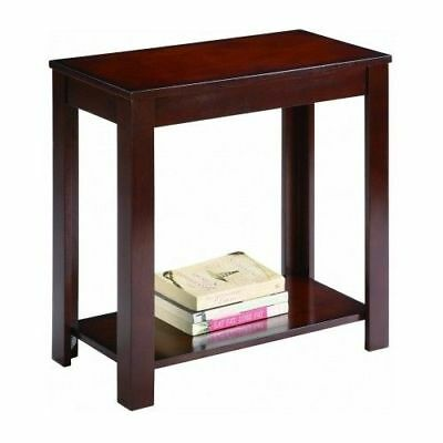 Brown Wood Side Chair - Side Table Chair End Wood Stand Living Room Espresso Nightstand Sofa Night Shelf