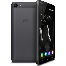 Wiko Jerry DUAL SIM Black/Space Grey - NEW with Cover + Earphones