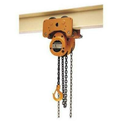 Harrington Nth020-10 Chain Hoist Trolley 2 Ton 10ft Lift 1-1332 Hook Opening
