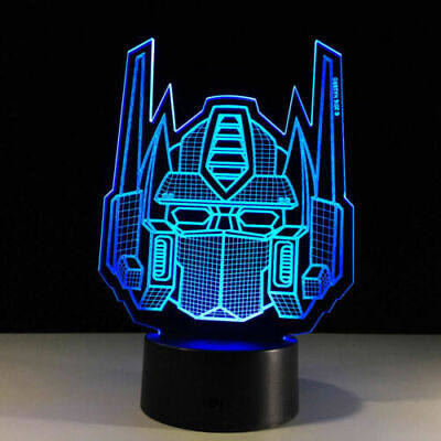 3D Night Light Acrylic Lamp LED Transformers Mask Logo Home Deco Light Gift