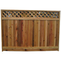 Fence panels with lattice top