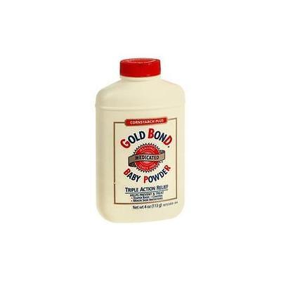 4 Pack - Gold Bond Cornstarch Plus Baby Powder 4 oz Each
