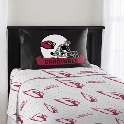 (Arizona Cardinals NFL 3 Piece Twin Sheet Set New Bedding)