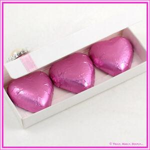Bomboniere/Favor Semi Gloss Chocolate Heart Rectangle Box - Pack of 25