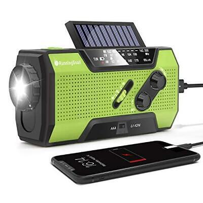 RunningSnail Solar Crank NOAA Weather Radio for Emergency wi