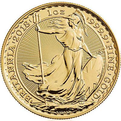 2018 1 oz British Gold Britannia Coin (BU)
