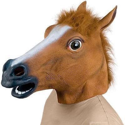 Pferd Maske Latex braune/schwaze Tier Cosplay Maskerade Kostüm Carnival Maske