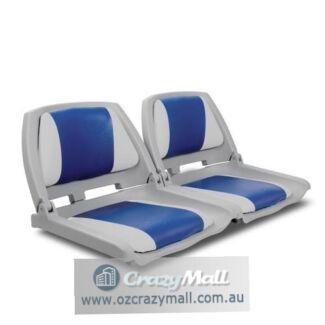 2 Folding Swivel Fishing Marine Boat Seats Different Colors