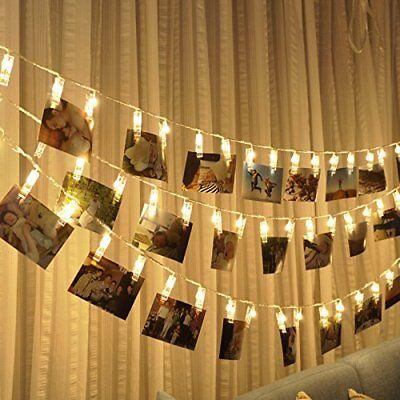 Ustellar Photo Clip Fairy String Led Light Christmas Garland Wedding Party -