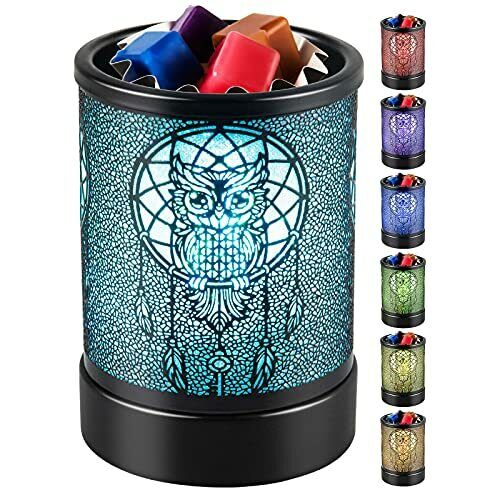 Candle-Wax Melts Warmer Wax-Melter Electric - Tart Burner Black owl colorful