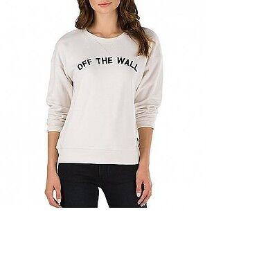 VANS SENIORS ONLY CREWNECK SWEAT SHIRT WHITE SAND WOMENS SZ XS-2XL VNOA31N53PN White Womens Sweatshirt