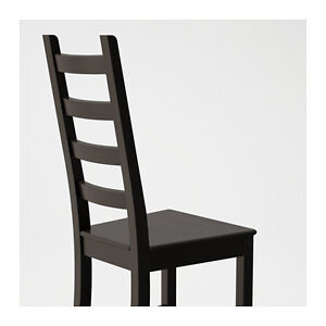 1 year old 4 KAUSTBY(Ikea) dining chairs (brown black)