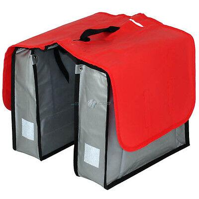 XL Fahrrad Doppeltasche LKW Plane Fahrradtasche Gepäckträgertasche Gepäcktasche