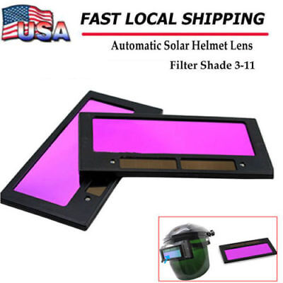 4-14 X 2 Solar Auto Darkening Welding Lens Hood Filter Shade 3-11 Us Ship New