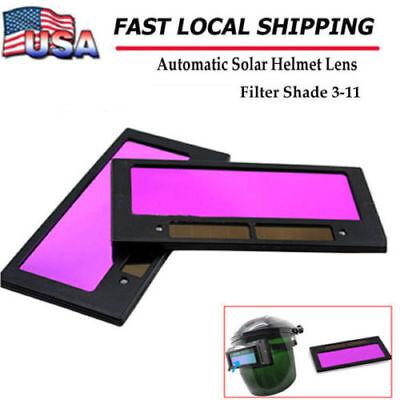 "USPS 1PC 4-1//4/"" x 2/"" Solar Auto Darkening Welding Helmet Lens Filter Shade 3-11"
