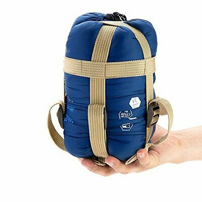 Compact & Waterproof Outdoor Sleeping Bag w/ Carrying Sack BEST for Warm