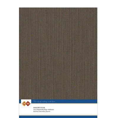 (EUR 4,81/m²) Leinenkarton 10xA4-Bogen dunkelbraun 33