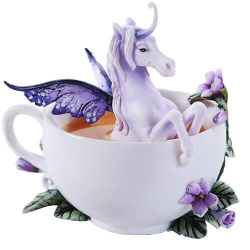 ENCHANTED UNICORN Figurine Fairy Horse Amy Brown pegasus teacup tea coffee cup