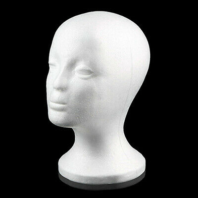 Female Styrofoam Mannequin Foam Head Model Glasses Hat Wig Display Holder Stand